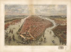 Bird's eye view of New York and environs. (John Bachmann 1865; LOC: https://www.loc.gov/item/75693052/)