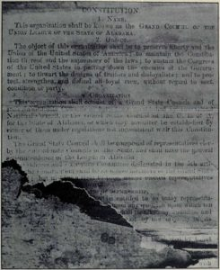 Facsimile of Union League of Alabama Constitution (http://www.gutenberg.org/files/41680/41680-h/41680-h.htm#Page_566)