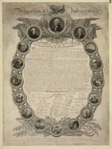 Declaration of Independence (John Binns, United States : s.n., c1818, published 1819; LOC: https://www.loc.gov/resource/pga.01013/)