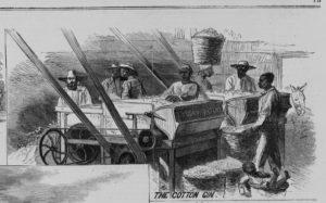 Cotton gin ( Illus. in: Harper's weekly, 1867 Feb. 2, pp. 72-73. ; LOC: https://www.loc.gov/item/96513748/)