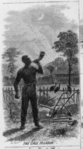 work time (Illus. in: Harper's weekly, 1867 Feb. 2, pp. 72-73. ; LOC: https://www.loc.gov/item/96513748/)