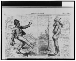 We accept the situation / Th. Nast. (Illus. in: Harper's weekly, v. 11, no. 537 (1867 April 13), p. 240. ; LOC: https://www.loc.gov/item/2002713109/)