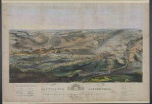 Gettysburg battlefield / Jno. B. Bachelder, del. ; Endicott & Co. lith, N.Y. (LOC: https://www.loc.gov/item/93517377/)