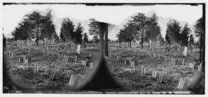[Richmond, Va. Graves of Confederate soldiers in Oakwood Cemetery, with board markers (1865; LOC: https://www.loc.gov/item/cwp2003000702/PP/)