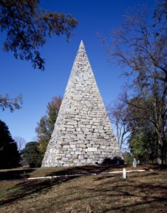 90-foot stone pyramid honoring 18,000 Confederate enlisted men buried at Hollywood Cemetery, Richmond, Virginia (by Carol M. Highsmith; LOC: https://www.loc.gov/item/2011633543/)