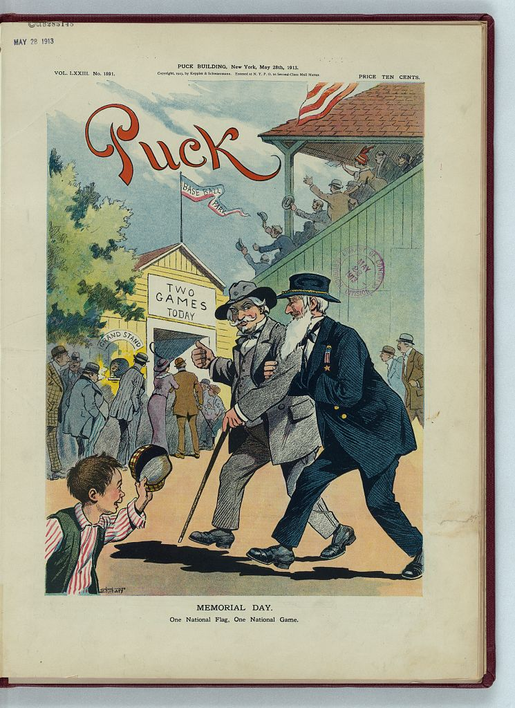 Memorial day / Ehrhart. (N.Y. : Published by Keppler & Schwarzmann, Puck Building, 1913 May 28; LOC: https://www.loc.gov/item/2011649595/)