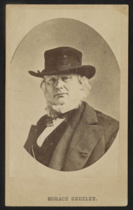 Journalist and abolitionist Horace Greeley wearing hat ([between 1860 and 1872]; LOC: https://www.loc.gov/item/2016652257/)