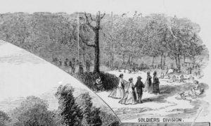 soldiers' division( Illus. in: Harper's weekly, v. 11, 1867 Aug. 17, p. 524. ; LOC: https://www.loc.gov/item/97507943/)