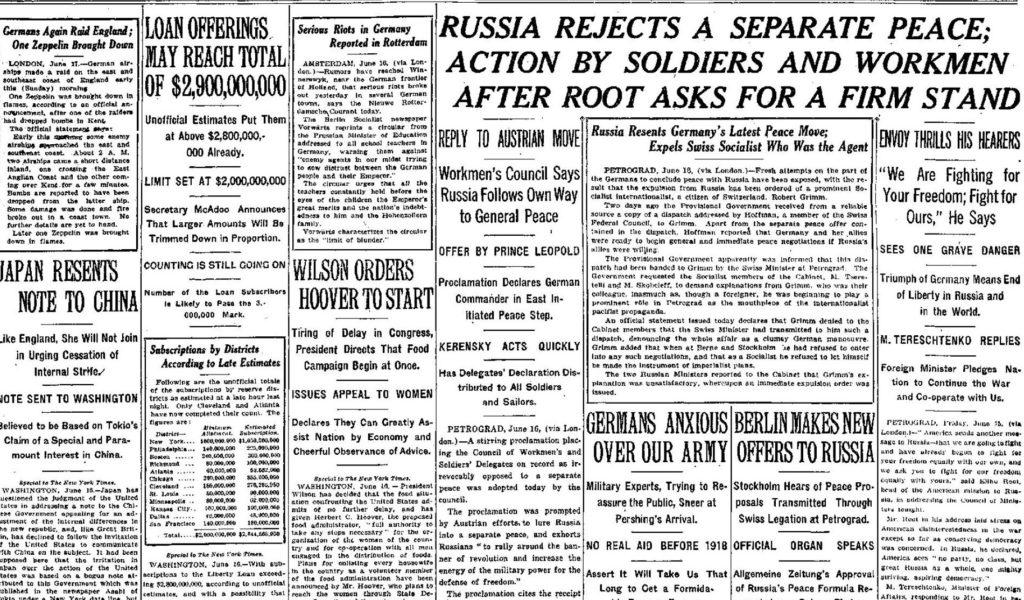 NY Times June 17, 1917