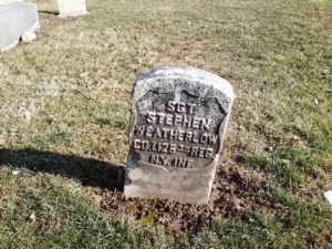 Stephen Weatherlow, Restvale cemetery, Seneca Falls, New York, February 7, 2016