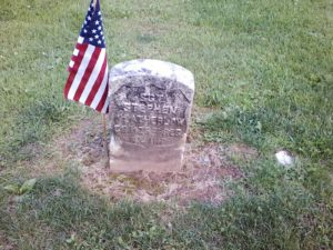 Stephen Weatherlow gravesite, Restvale Cemetery, Seneca Falls, New York, July 2, 2017