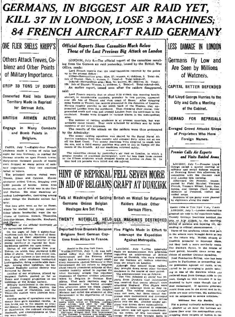 NY Times July 8, 1917