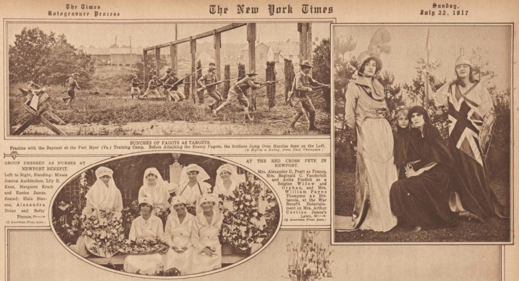 Red Cross Fete (NY Times July 22, 1917; LOC: https://www.loc.gov/resource/sn78004456/1917-07-22/ed-1/?q=july+22%2C+1917&st=gallery image 5)