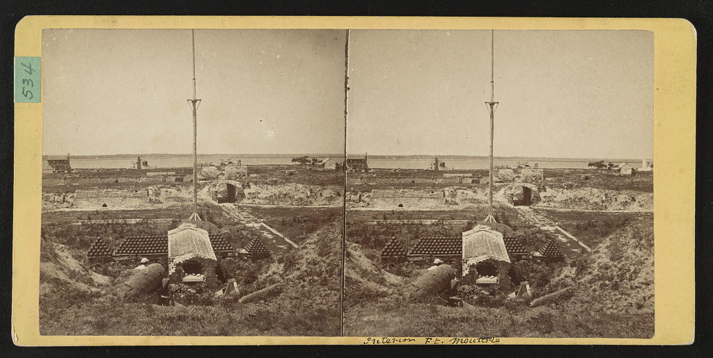 Interior view of Fort Moultrie, Charleston, S.C., taken in 1867 (1867; LOC: https://www.loc.gov/item/2015650228/)