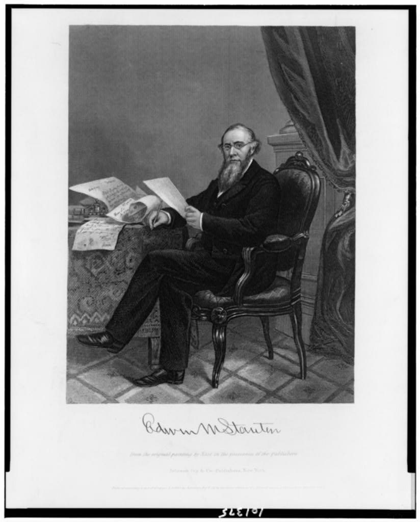 Edwin M. Stanton (New York : Johnson, Fry & Co., publishers, c1865.; LOC: https://www.loc.gov/item/90710898/)