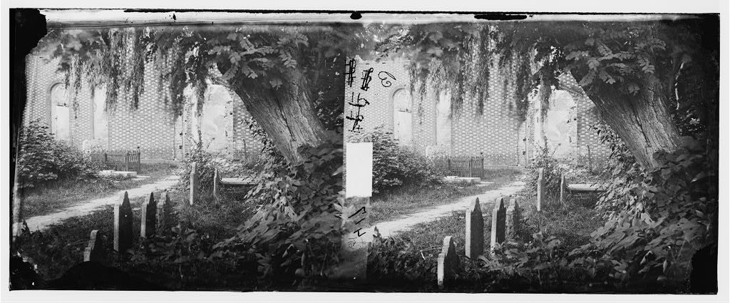 (Churchyard with graves) (between 1862 and 1869; LOC: https://www.loc.gov/item/cwp2003005862/PP/)