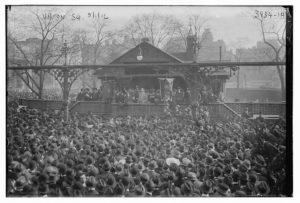 Union Sq., 5/1/16 (May Day 1916; LOC: https://www.loc.gov/item/ggb2005021590/)
