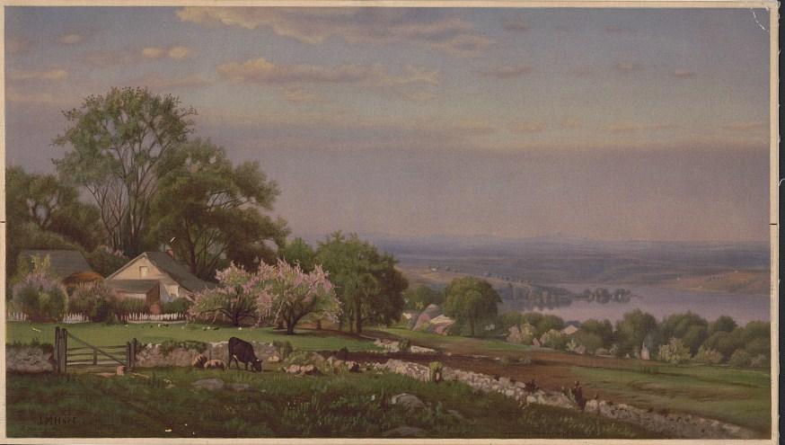 Scene near Cayuga Lake, N.Y., Spring / J.M. Hart. (1870; LOC: https://www.loc.gov/resource/pga.13768/)