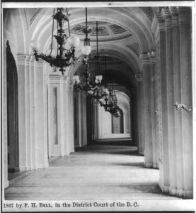 House corridor, in the U.S. Capitol (1867; LOC: https://www.loc.gov/item/2004674577/)