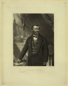 Ulysses S. Grant / engraved by William Sartain, Phila. (Phila. : Pubished by Wm. Sartain, 728 Sansom St., c1866.; LOC: https://www.loc.gov/item/2012648872/)