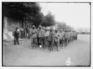 The surrender of Jerusalem to the British December 9th, 1917. Turkish prisoners. (LOC: https://www.loc.gov/item/mpc2004005638/PP/)
