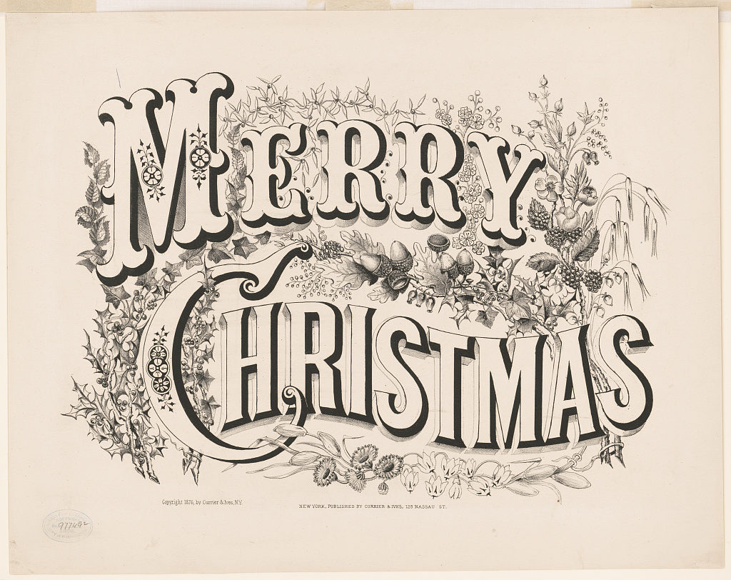 Merry Christmas (New York : Published by Currier & Ives, 125 Nassau St., [1876])