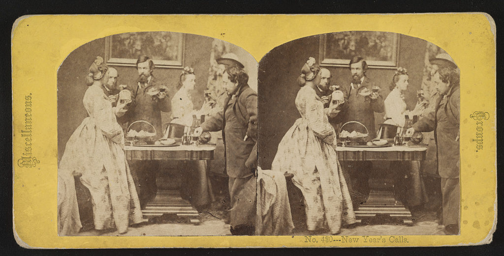 New Year's calls ([New York, N.Y.] : [George Stacy], [between 1861 and 1866]; LOC: https://www.loc.gov/item/2017647818/)