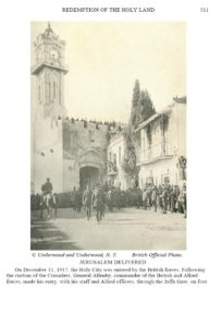 Allenby's entry (History of the World War; http://www.gutenberg.org/cache/epub/18993/pg18993-images.html)