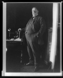 [William H. Taft, full-length portrait, standing, facing left, with hand on telephone] (c1908.; LOC: https://www.loc.gov/item/96521946/)