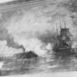 NH 42216 CSS Virginia engages USS Congress, 8 March 1862 (https://www.history.navy.mil/our-collections/photography/numerical-list-of-images/nhhc-series/nh-series/NH-42000/NH-42216.html)