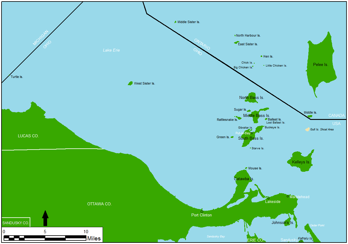 Lake Erie Islands Map Rebels of Lake Erie | Blue Gray Review